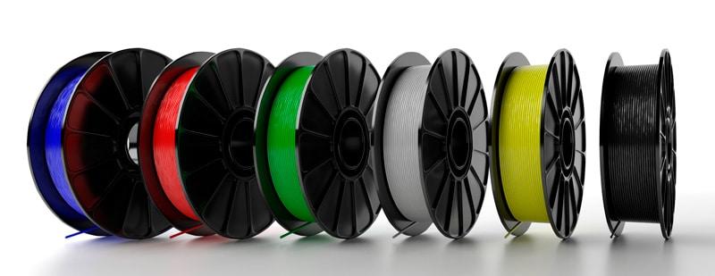 Bibinas de filamento para impresión 3D