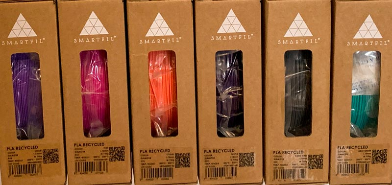 Filamento Smartfil PLA Reciclado y Smart Materials