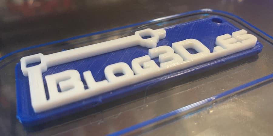 Impresión 3D en dos colores acabada