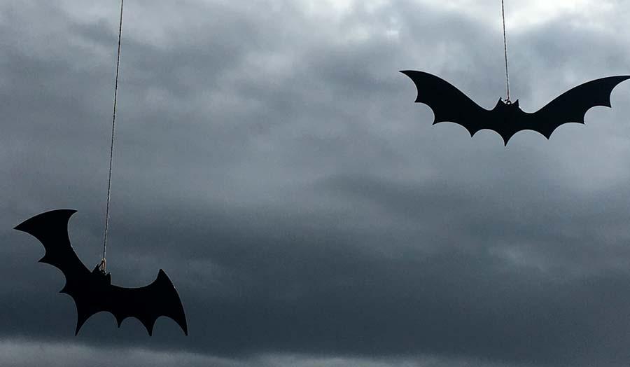 Murciélagos SLT para imprimir en Halloween