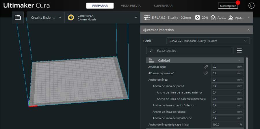 Descargar perfiles de Cura para Ender 3 Pro (PLA, PETG y ABS)