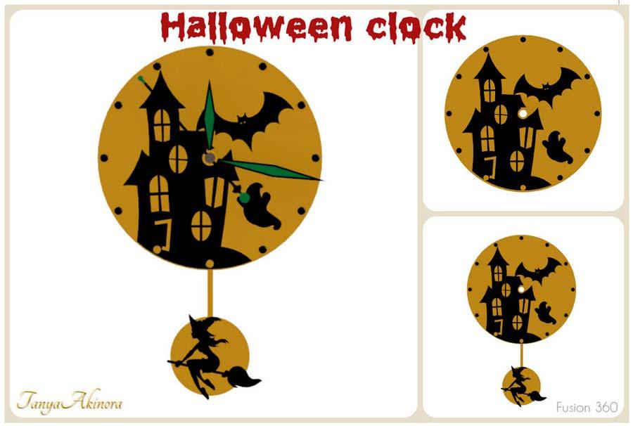 Reloj de Halloween en SLT para impresión 3d